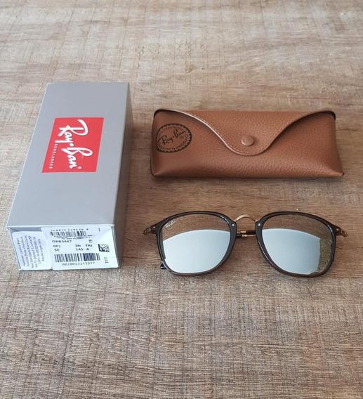 Óculos Ray Ban Fleck Rb2448 Marrom Com Prata Black Friday