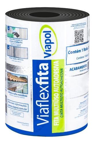 Fita Asfáltica Autoadesiva Aluminizada 20cmx10m - Viaflex