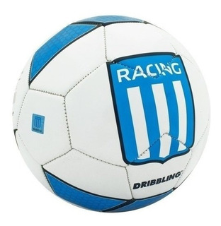 Pelota Futbol Racing Cilindro Nº5 Drb Dribbling Cocida