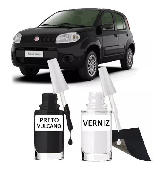 Tinta Tira Risco Automotiva Fiat Preto Vulcano 15ml