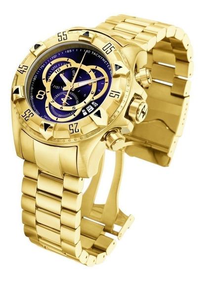 Relógio Masculino Prata E Dourado Barato Pesado Aço Cores