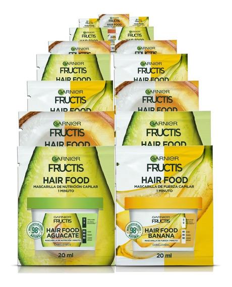 Pack 24 Hair Food Sachet Fructis Garnier Mix