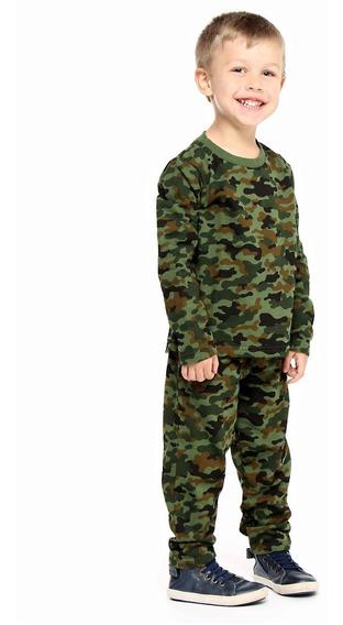 Pijama Moletom Camuflado Verde Pepila Pepila