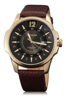 Reloj Curren Diseño Unico Con Fecha C/ Estuche Malla Cuerina