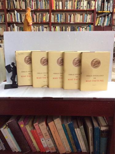 Imagen 1 de 6 de Obras Escogidas - Mao Tse-tung - 5 Tomos - Tapa Dura Origina
