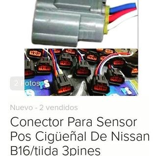 Conector Sensor Pos Cigueñal Nissan B15 B16 Tiida 3pines