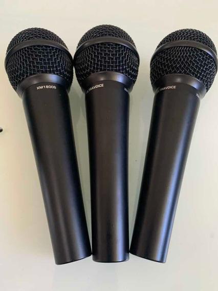 3 Microfones Behringer Ultravoice Xm1800s