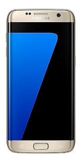 Smartphone Samsung Galaxy S7 Edge Dourado Com 32gb, Vitrine
