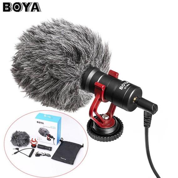 Microfone Boya By-mm1 Direcional Original Para Canon,nikon