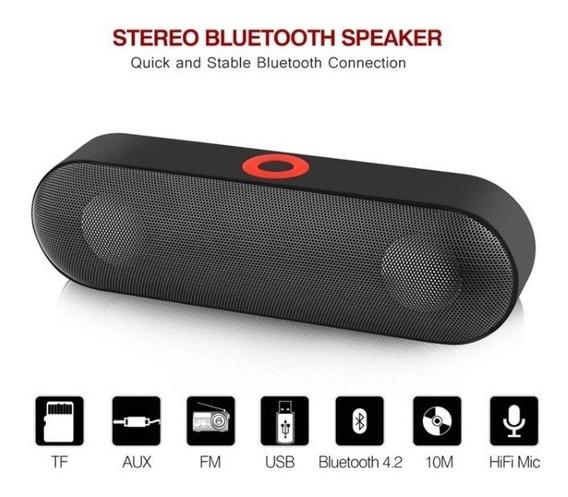 Mini Caixa Som Portátil Sem Fio Bluetooth Nby-18 Preta