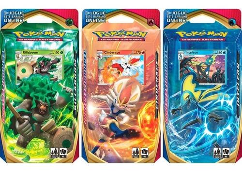 Pokémon Decks Espada E Escudo Inteleon Cinderace Rillaboom