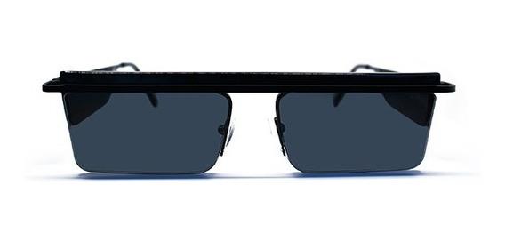 Lente De Sol De Metal Color Negro, Glasses G3, Pop8032