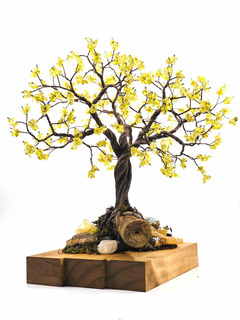 Árbol Tipo Bonsai Artificial Varios Colores Cuarzo Decoracio
