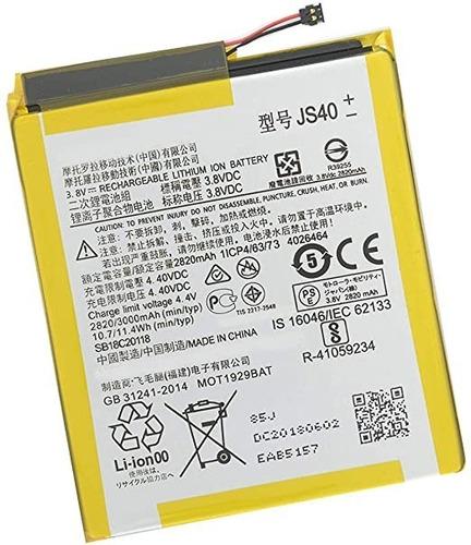 Imagen 1 de 1 de Bateria Pila Para La Marca Motorola Moto Z3 Play Js40 Xt1929