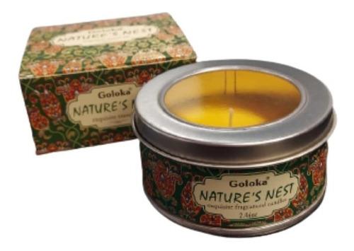 Imagem 1 de 4 de Vela Aromatica Indiana Goloka Duração De 6 Horas Natural