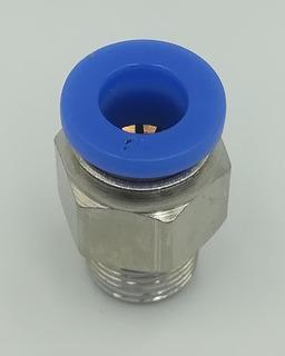Racor Neumático Recto Manguera 6mm Rosca 1/8 Rpt 10 Pzas