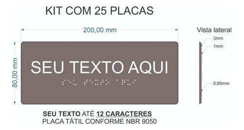 25 Placas Tátil Braille Relevo Com 1 Linha (12 Caracteres)