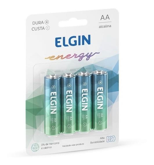 Pilhas Aaa Alcalina Elgin 3 Pacotes C/ 4 Pilhas Cada