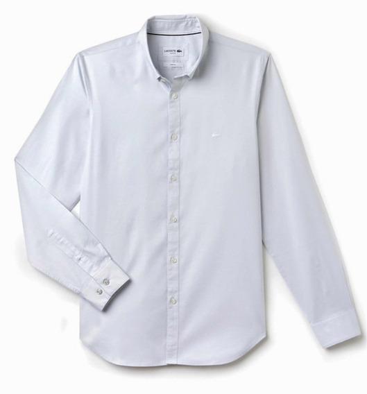 Camisa Lacoste De Vestir P/caballero Manga Larga Plata Tenue