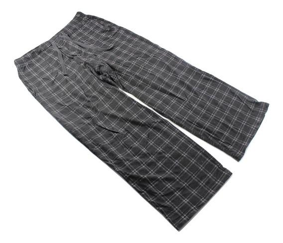 Pantalon Pijama Negro Merona Descanso Cuadros Talla S 28-30