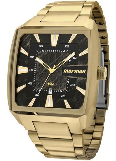 Relógio Masculino Mormaii Dourado Quadrado Ou Redondo