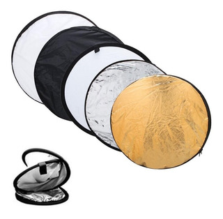 Flex Reflector Luz 110cm Flash 5 En 1 Para Fotografia