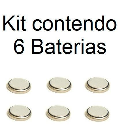 Kit 6 Baterias Bateria Para Alarme Sonoro Cr1225 Cr 1225