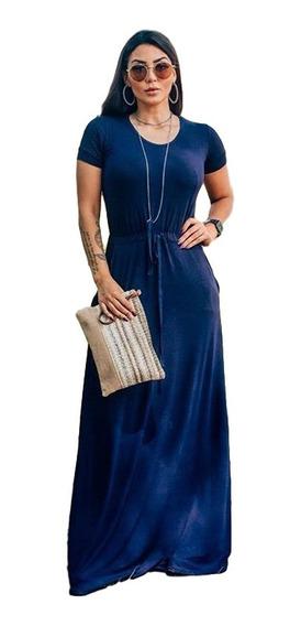 Vestido Longo Evangelico Casual Basico Lançamento Tendencia