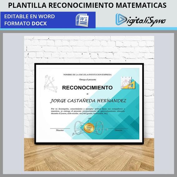 Plantillas Para Reconocimientos Editables En Mercado Libre