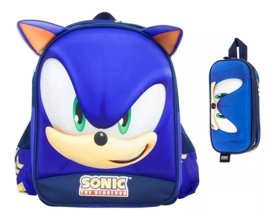 Kit De Mochila Y Lapicera Sonic Kinder Tz691