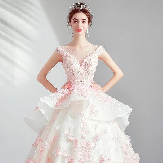 Vestido Xv Años Quinceñera Ivory Con Rosa Alq-190507001