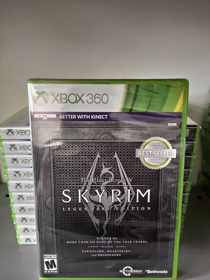 Xbox 360 Skyrim Legendary Edition Mídia Física Lacrado