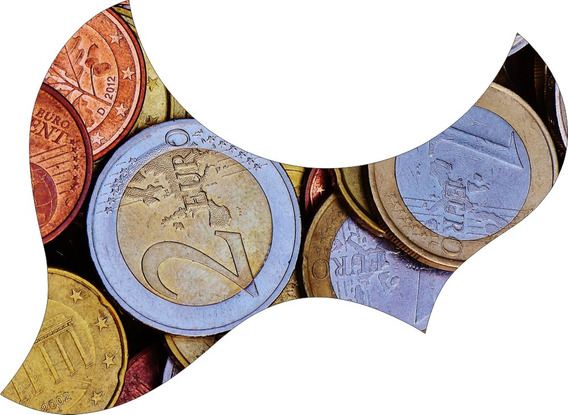 Escudo Palheteira Resinada Violão Aço Jumbo Sônica Euro