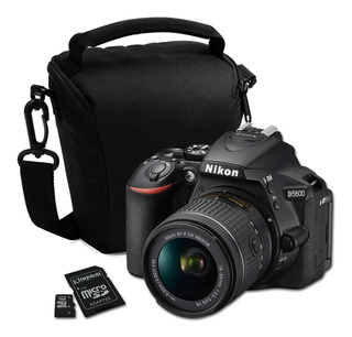 Cámara Nikon D5600 Réflex 18-55mm + Mem 32gb + Bolso