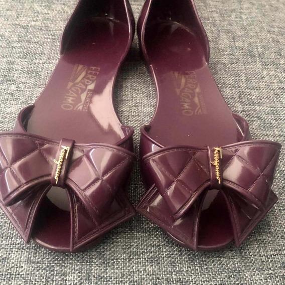Zapatos Ferragamo Originales De Plastico Talla 5 Americano