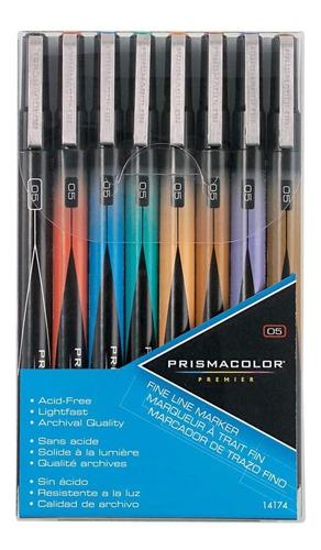 8 Marcadores De Ilustracion Trazo Fino Prismacolor Premier