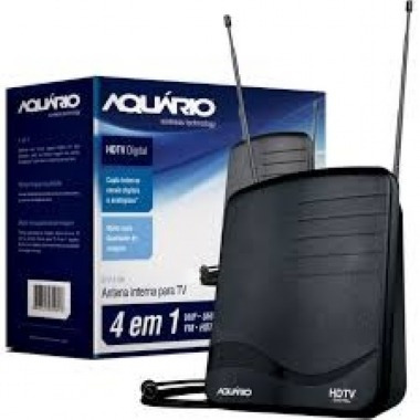 Antena Digital Dtv 1100 Aquario Com Cabo 1,5mts