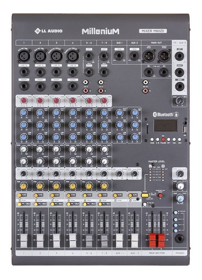 Mesa De Som 8 Canais C/ Usb/sd / Bluetooth M802d - Ll Audio
