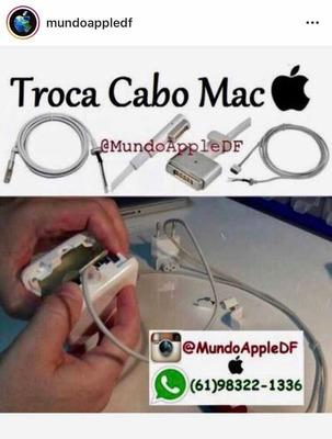 Troca Cabo Do Carregador Macbook Substituição Cabo Fote Mac