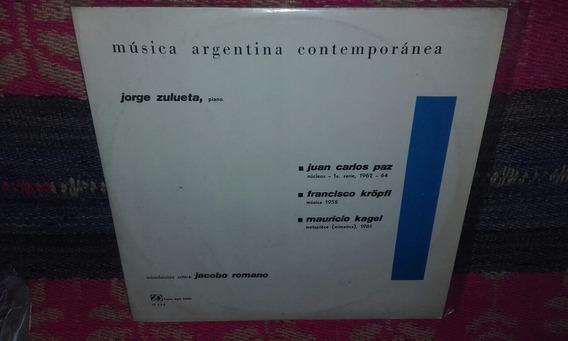 Mauricio Kagel J. C. Paz Lp Vinilo Música Contemp. Argent Ex