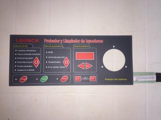 Launch Cnc602 Panel Teclado Probador Limp Lavador Inyectores