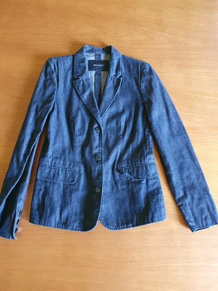 Blazer Ellus Jeans Escuro Tayloring Tam M Brasil .obc Store