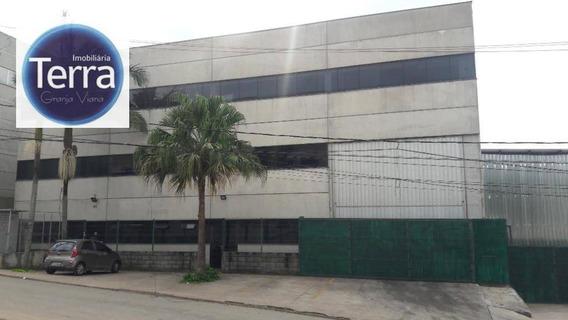 Galpão Para Alugar, 1800 M² Por R$ 27.000,00/mês - Jardim Colibri - Cotia/sp - Ga0163
