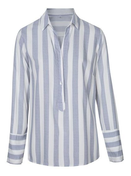 Camisas Ladyes Largas Rayadas - Quality Import Usa