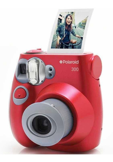Câmera Digital Instantânea Polaroid Pic 300 - Vermelha