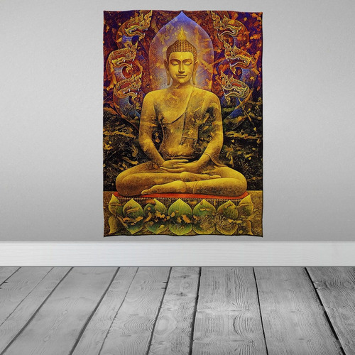 Stompy Bandeira Decorativa Budha Trance Rave