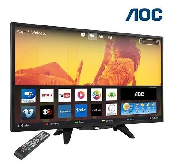 Tv Led 32 Aoc Placa Wifi Tv Digital Netflix Smart Hdmi Usb