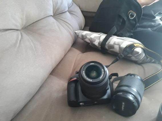 Câmera Nikon 3200 Mais Lente Especial