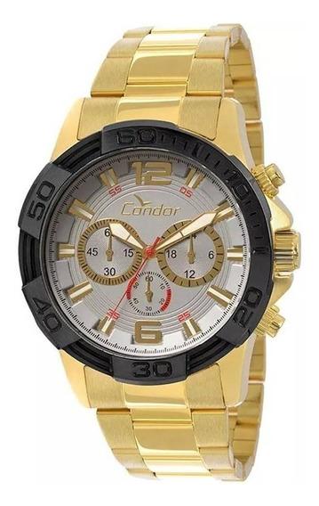 Relógio Cronógrafo Masculino Condor Dourado Covd54aa4k