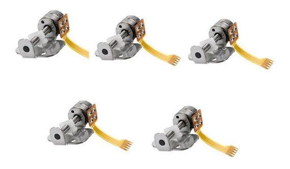 5 Pcs Dc 5v 2 Fase 4 Fio Stepper Motor Dc Motor Acessórios D
